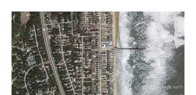 Nags Head pier - Google Earth View